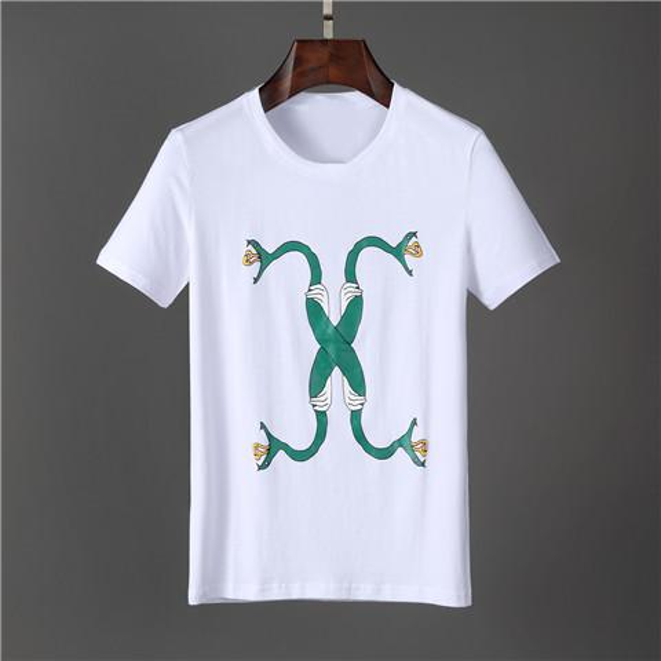 2019 Summer Fashion Short Sleeve Men's T-Shirts FD002 Brand Tag design Italy style cotton Man Clothing tshirt Roma O-neck tees
