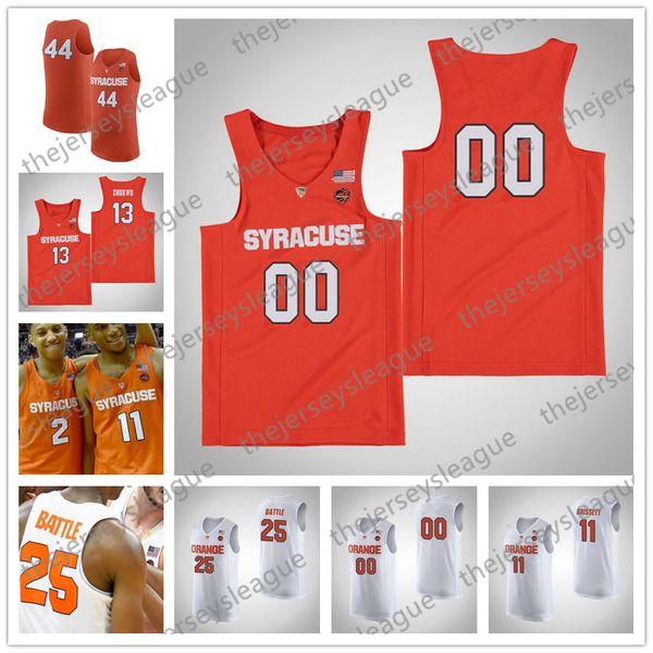 Custom Syracuse Orange White Any Name Any Number Good Quality Stitched #23 Frank Howard NCAA College Basketball Jerseys S-4XL Free Shopping