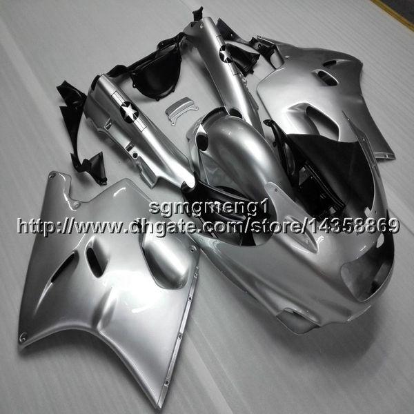 Botls+Gifts silver motorcycle cowl For Kawasaki ZX11R 93 94 95 96 97 98 99 00 01 ZZR1100 1993 2001 ABS motor Fairing