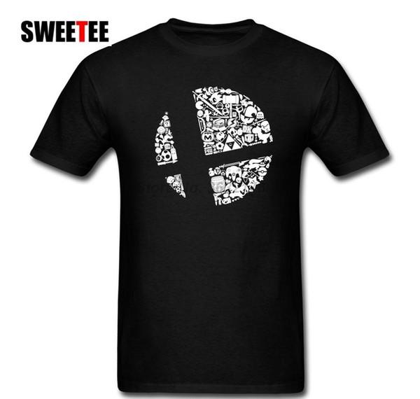 All Things Final Smash Roster Super Smash Bros T Shirt Men Adulto algodão de manga curta Plus Size Camiseta Para TeenBoys