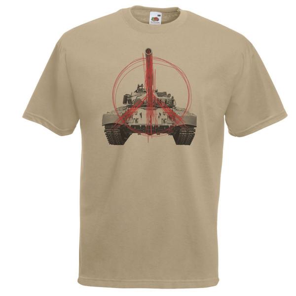 Mens Khaki Peace Tank T-shirt Stop Guerre Armée Style TShirt Humanitaire Drôle livraison gratuite Unisexe