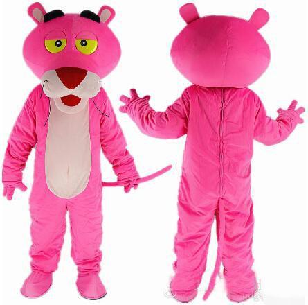 NOVA pantera cor de rosa Dos Desenhos Animados Da Mascote Do Traje Adulto Tamanho do Vestido Extravagante vestido extravagante EPE cabeça carnaval festa do traje frete grátis