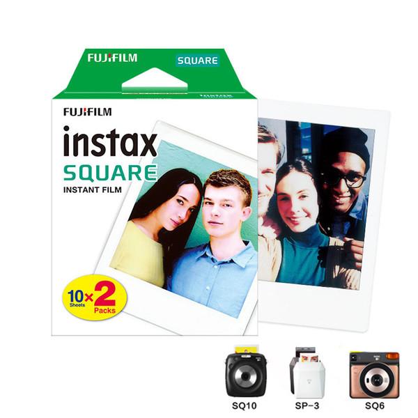20 Yaprak Fujifilm Instax Kare Ikiz Paketi Filmi Beyaz Kenar Instax SQ10 SQ6 Anlık Kamera için Fotoğraf Kağıdı Paylaşmak SP-3 Yazıcı