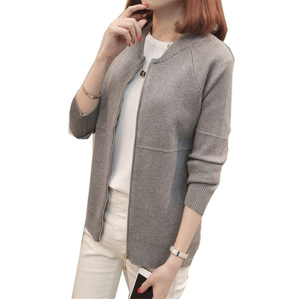 Spring Autumn Cardigan Sweater Women New Korean Elegant Knit Sweater Coat Short Loose Long-sleeved Women Cardigan Jackets XY823