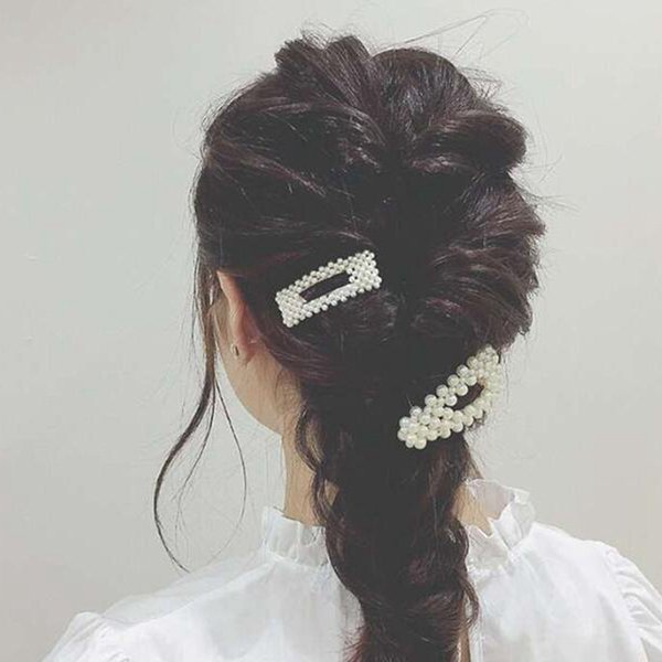 best selling High Quality New Hair Pins Wedding Accessories Pearl Hairpins Flower Crystal Pearl Rhinestone Hair Pins Clips Hair Jewelry
