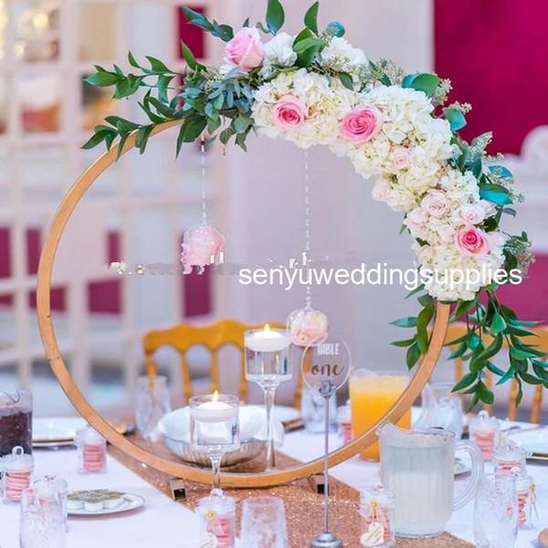 30 cm / 75 cm çap seçebilirsiniz) yeni zarif yüksek altın boyalı düğün koridor ayağı düğün için geçit dekor için düğün masa senyu0183