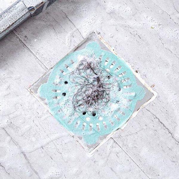 top popular 5pcs Filter Screens, Disposable Drain Sticker Hair Filter Floor Drain Sink Bathroom, Non-woven Fabric Anti-block 2021