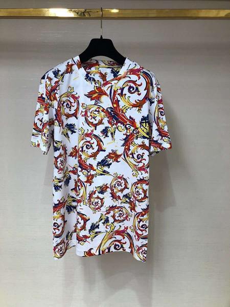 2019 New Brand mens designer t shirts Summer color decorative pattern Print Short Sleeve T Shirts casual Tee Shirts Male Homme Men's