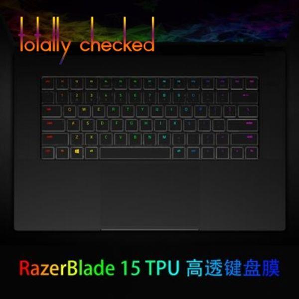Pour Razer Blade 15 2018 15,6 pouces couvercle du clavier peau couverture claire TPU couvercle du clavier peau