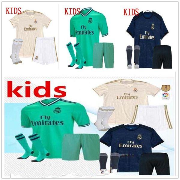 19 20 maglie da calcio Real Madrid Ea Sports Kids Kit 19 20 Home White Away 3RD 4TH Boy Child Youth Modric ISCO BALE KROOS Maglie da calcio