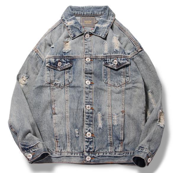 Giacca di design moda uomo originale avatar ricamo giacca di jeans marchio di moda cappotto di design di alta qualità più venduto per uomo