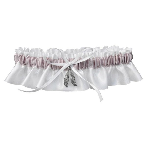 Bride Garter Belt Silver Leaf Garters Wedding Patty Supplies Bowknot White Cloth Hot Sales Creative Decoration Lace Design 7dyC1