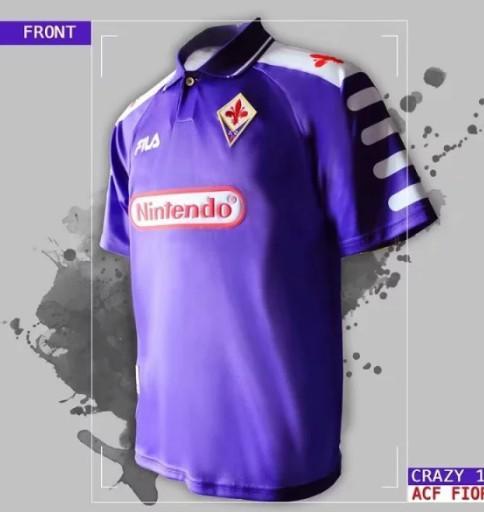 1998 1999 Retro Fiorentina Soccer Maglie 9 BATISTUTA 10 RUI COSTA Custom Vintage 98 99 Florence Home Maglia da calcio Camisas de Futebol