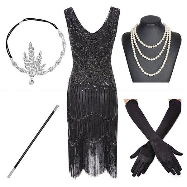 Siyah-gümüş-set
