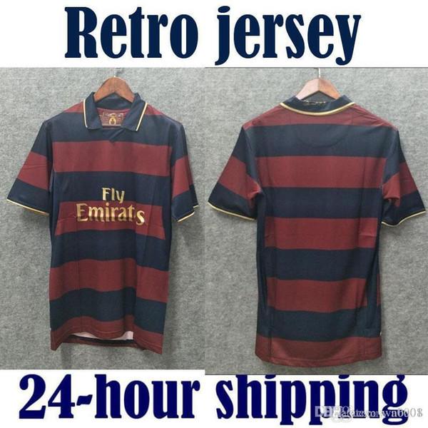 Compre Maillot De Foot 2005 2006 Camisas De Futebol Artilheiro Retro  Highbury 05 06 Thierry Henry Camisa De Futebol Vinho Marrom Reunidos Nome E