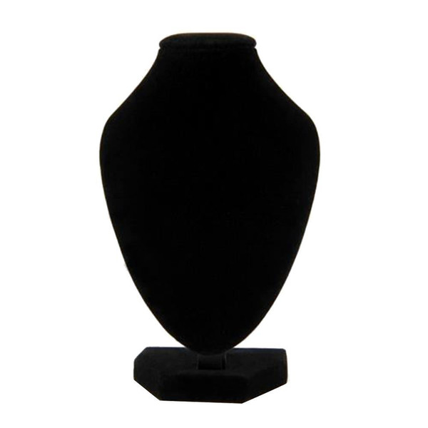 top popular 1x Black Jewelry Necklace Choker Display Stand Bust Neck Velvet Showcase 2021