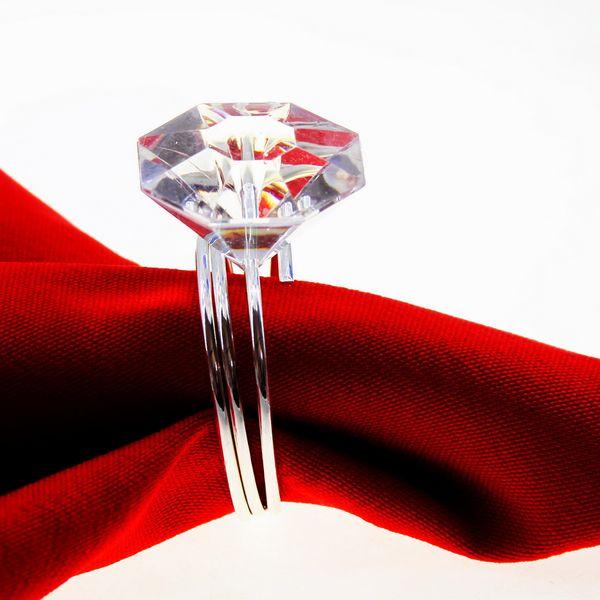 Elmas akrilik peçete halkası kristal peçete tutucu Yaratıcı Mutfak Masa Dekorasyon altın mor kırmızı 12 adet ücretsiz kargo