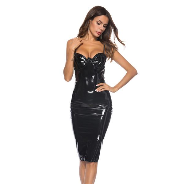 Negro vestido de Midi