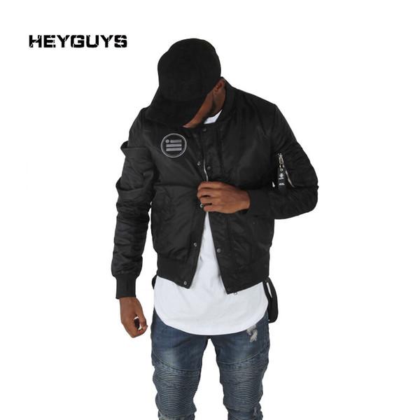 HEYGUYS Walking Dead street black Jacket Hip Hop wear windbreaker bomber jacket brand clothing mens jackets and coats