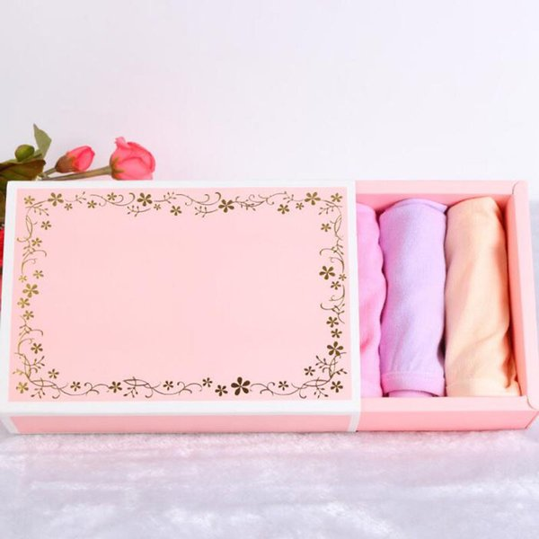 Delicate Flower Gift Paper Packaging Boxes Packing for Socks/Scarf/ Underwear Paper Carton Drawer Boxes QW8997