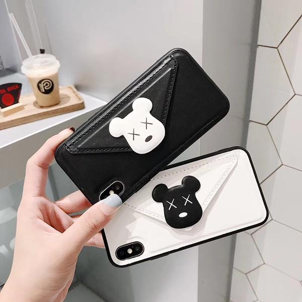 One Piece Phone pour iPhone XS MAX X 6s 6Plus couverture arrière 7 8plus cartoon mode ours Designer téléphone cas Longe
