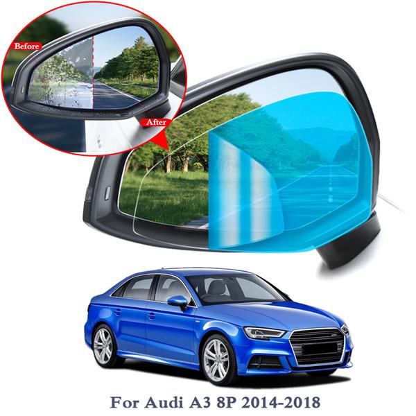 2 PCS Anti Brouillard Fenêtre De Voiture Film Clair Rétroviseur Film De Protection Pour Audi A3 A4 A4L A5 A6 Q3 Q5 Q7 Étanche Autocollant De Voiture