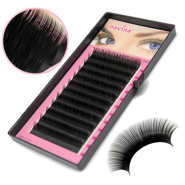 Natural Long Black Eye 2019 elashes Individual Eyelash Extension Eye Lashes Soft False Fake Grafting Top Cilios