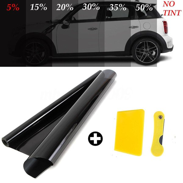 free shipping yentl 3mx50cm VLT Car Auto Home Glass Window Tint Tinting Film Roll With Scraper For Car Side Window House Commercial Solar Pr