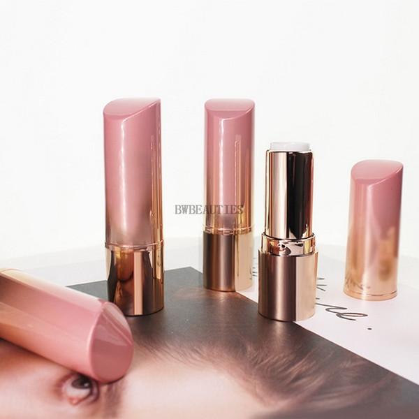200 Unids / lote PinkGold Plástico Vacío Cosmético Tubo de Barra de Labios, Gradiente Belleza Labio Colorete Recargable Recipiente, Botella de Labio