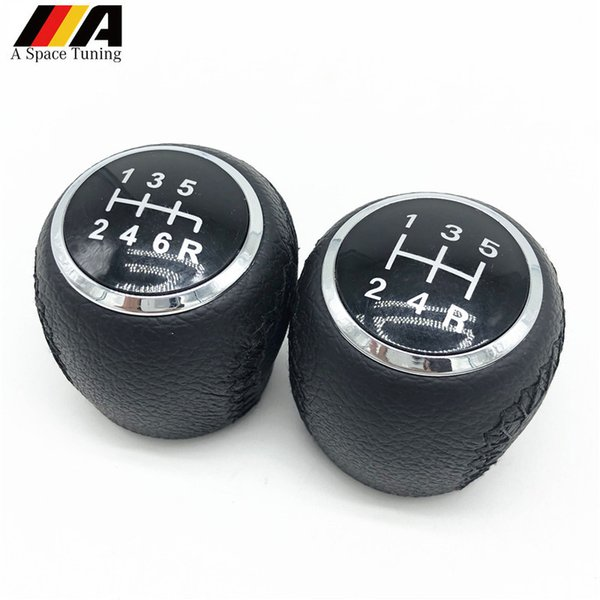 Black Leather 5/6 Speed Gear Shift Knob Sports Lever Stick Pen For Jumper Relay / Boxer / Ducato 2002-2014