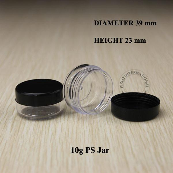 10g 100pcs Empty small plastic jars bottles cosmetic jar pot box with lids sample mini containers packaging for nail art powder