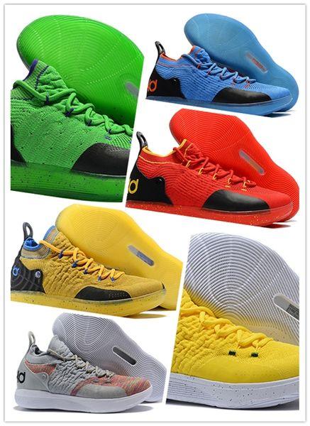 eea05c75978 2019 New KD 11 EP White Orange Foam Pink Paranoid ICE Basketball Shoes  Original Kevin Durant