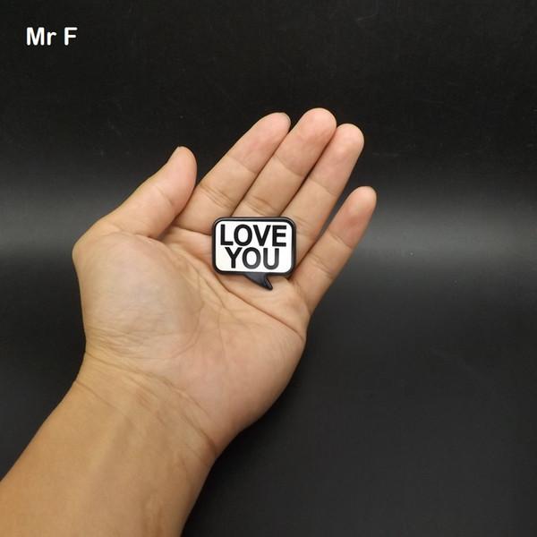 Mini 36 mm « LOVE YOU » Sign Flat Retour Modèle Accessoires Diy Jeu éducatif d'apprentissage Prop jouets pour les enfants Cadeaux Creative