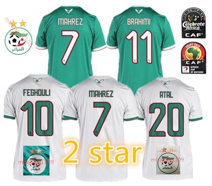 Acheter 2 étoiles Algérie Thaïlande Domicile Blanc 2020 Maillot De Football Maillot De Football Adulte Algérie à Lextérieur De Maillot De Football