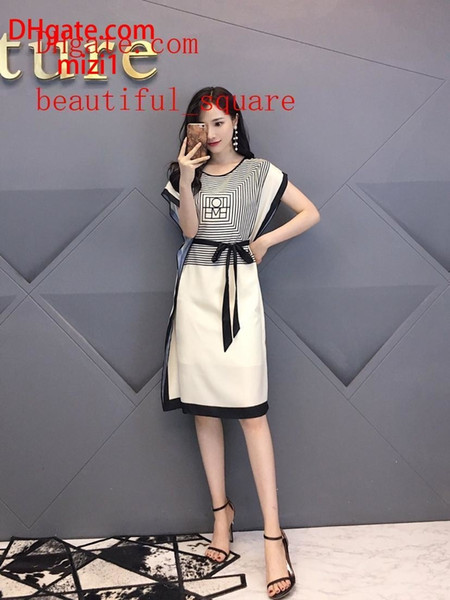 Summer dresses Classic loose round neck shift dress casual fashion party Dresses new brand skirt top quality women clothes AB-18