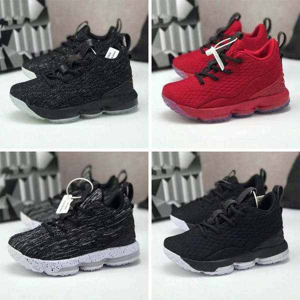 Brand Big Kids 15 PS Basketball Shoes For Kid Sports Shoes Children Sport Shoe Child Athletic Chaussures Youth Sneakers Boys Sneaker Teenage The Best