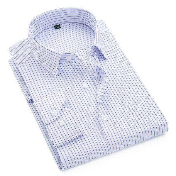 2018 Brand New Men Shirt Male Dress Shirts Striped Men's Fashion Casual Long Sleeve Business Formal Shirt Formal camisa social #388869