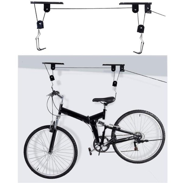 Starke fahrrad fahrrad lift decke montiert hoist lagerung garage aufhänger riemenscheibe metall lift montagen ciclismo bicicleta
