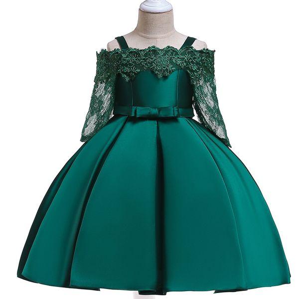 Compre 2019 Traje De Princesa Vestidos De Niños Para Niñas Ropa Fiesta De Flores Vestido De Novia Elegante Vestido De Novia Para Niña Ropa 3 10 Años A