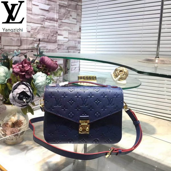 best selling Yangzizhi New Pochette Metis Handbag Empreinte Dark Blue Full Leather Messenger Bag M44071 Handbags Bags Top Handles Shoulder Bags Totes