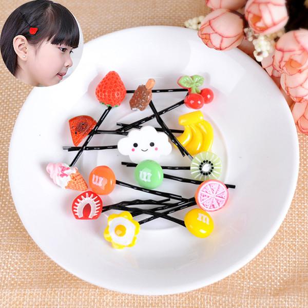 Детские аксессуары для волос Harajuku фрукты кусок боковые зажимы моделирование арбуз лимон заколки слово клип головные уборы