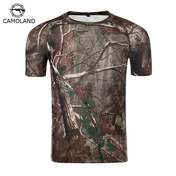Summer Military Camouflage T-shirt Men Tactical Army Combat T Shirt Quick Dry Short Sleeve Camo Clothing Casual O Neck T-shirt C19041301