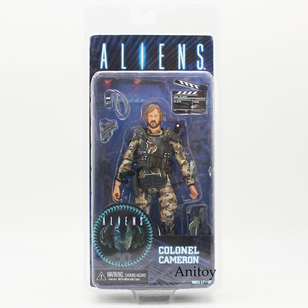 figures collectibles NECA ALIENS COLONEL CAMERON PVC Action Figure Collectible Model Toy 17cm model toy neca alien