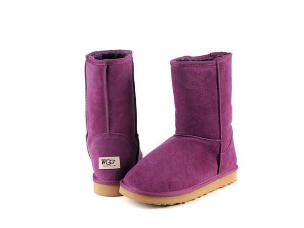 Kostenlose lieferung Australien Designer Button Klassische Dekoration Halbe Stiefel Damen Winter Schnee Stiefel Mode mädchen GRÖSSE 35-44