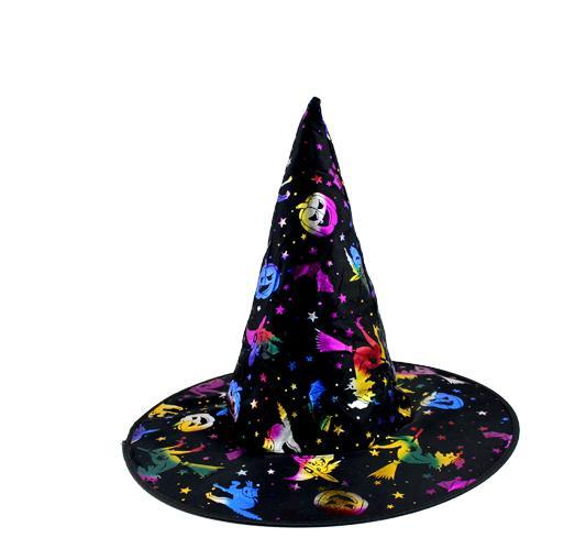 Children's Halloween costume costume gorgeous wizard hat witch hat gold hat adult performance props free delivery