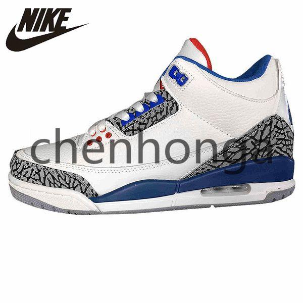 huge sale classic shoes save up to 80% 2019 Original Nike Air Jordan 3 Retro Sport Men Women Basketball Shoes  Comfortable 3s Sports III White Blue Airs Jordans Retros Outdoor Sneakers  Black ...