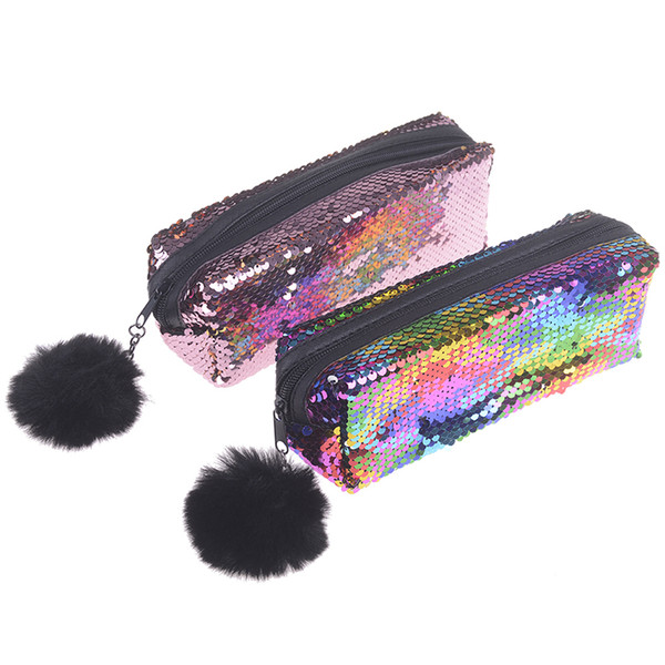 New Magic Pencil Box make up bags Pencilcase Reversible Sequin Pencil Case for Girls Super Big School Stationery Gift