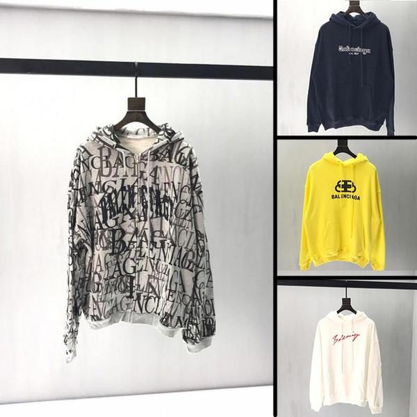 2019 nueva llegada otoño diseñador para hombre con capucha famosa marca streetwear suelta en forma de hombres sudadera hombre de algodón de alta calidad sudaderas con capucha M