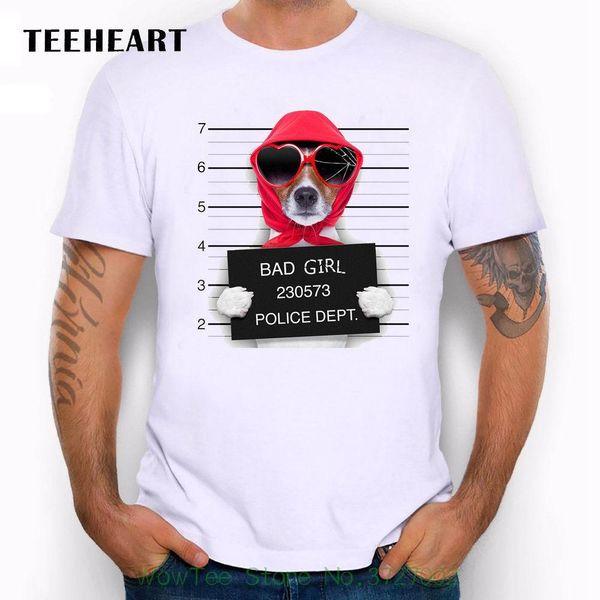 Wanted Bad Dog's Mugshot Miss Beagle Red Scarf Funny Joke Men T Shirt Tee Printed Round Men Tshirt Cheap Price