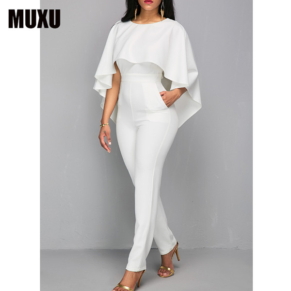 Rompers Womens Jumpsuit Body Bodies Woman White Jumpsuit For Women White Romper Europe And The United States Jumpsuits Rompers Y19071701